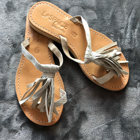 87000f85159cdf l space Shoes - L Space Silver Tassel Sandals Size 37